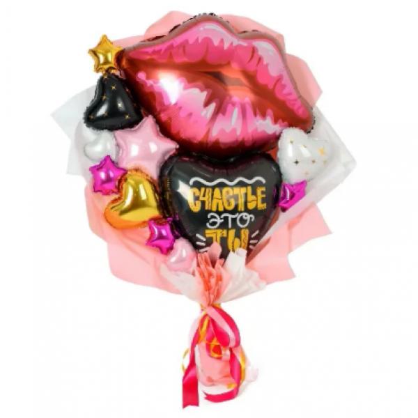 Букет из шаров Поцелуй