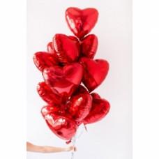 15 красных шаров Сердце