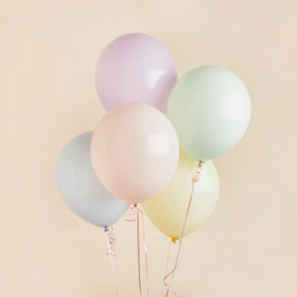5 пастельных шаров
