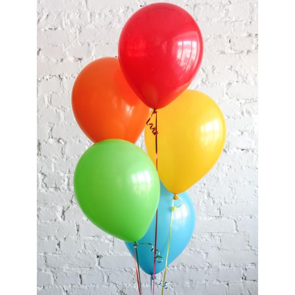5 разноцветных шаров