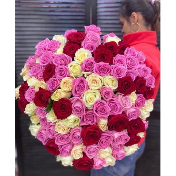 Букет из 101 розы Ассорти
