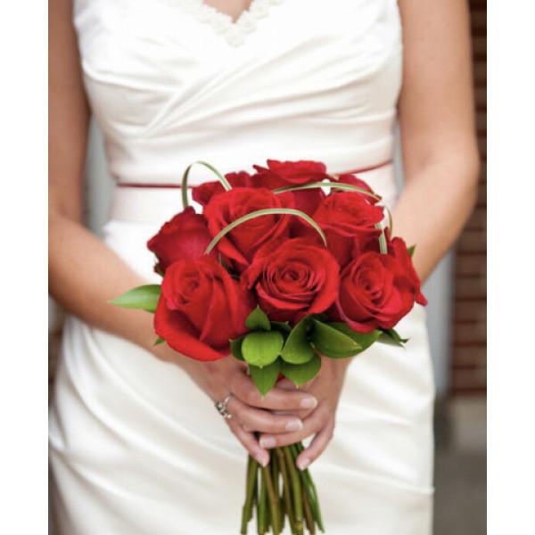 Свадебный из красных роз