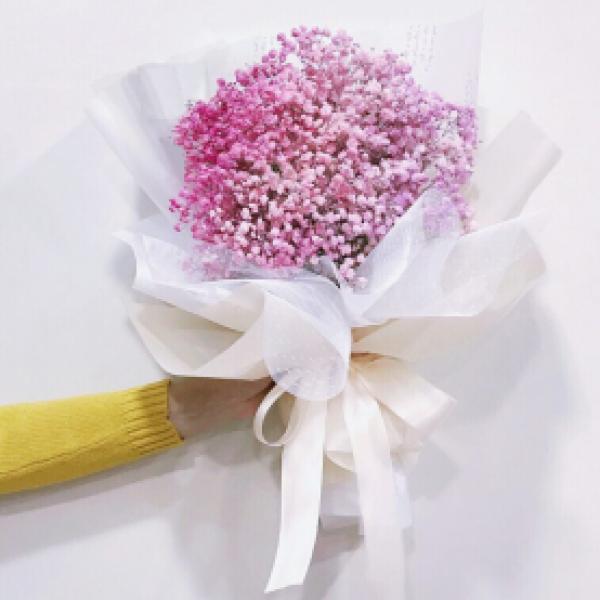 Букет из 15 розовых гипсофил