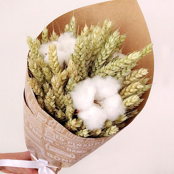 Букет с Пшеницей и Хлопком