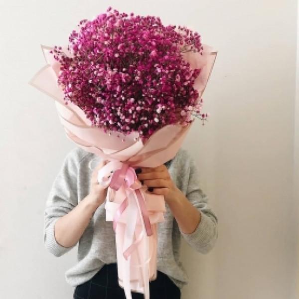 Букет из 31 розовой гипсофилы