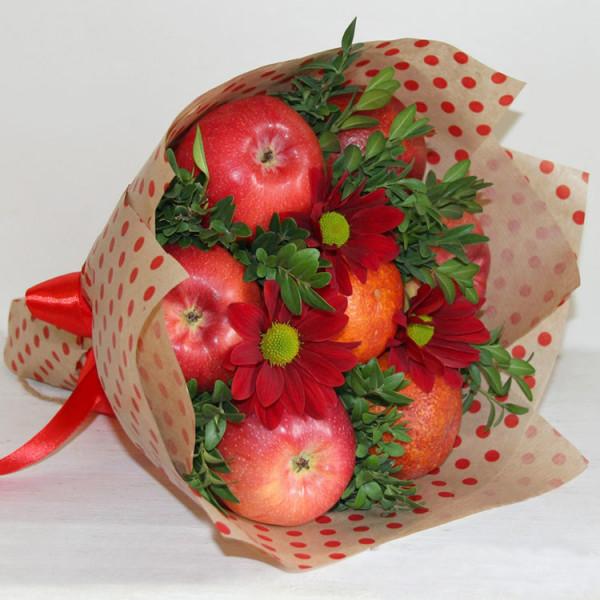Букет яблочно-апельсиновый