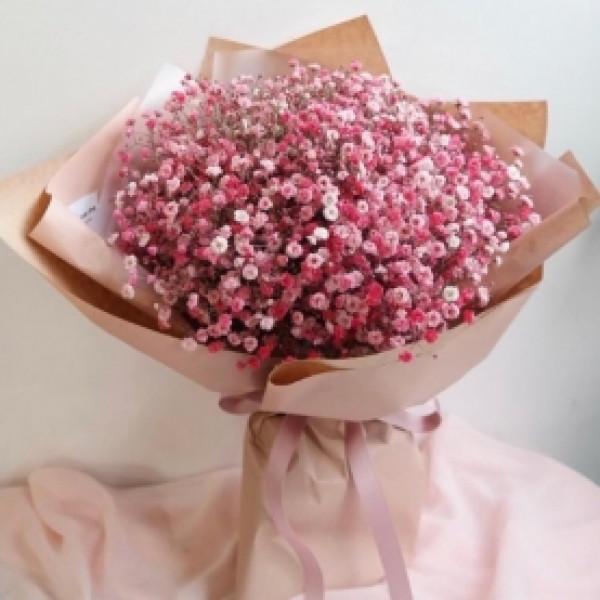 Букет из 9 розовых гипсофил