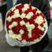 101 бело- красная роза