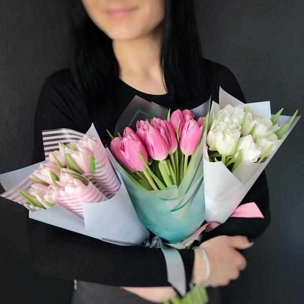 9 тюльпанов в упаковке