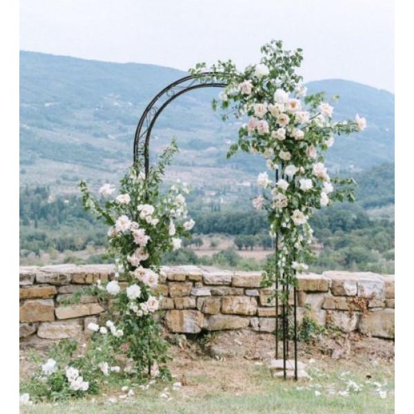 Оформление свадебной арки цветами 3