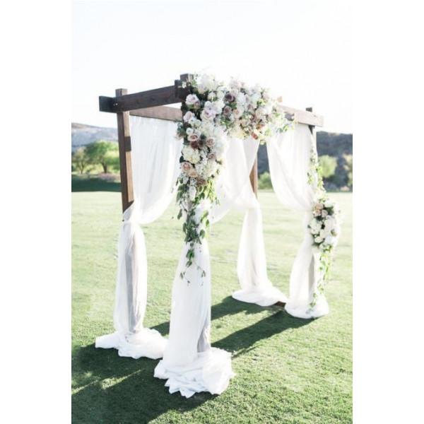 Оформление свадебной арки цветами 5