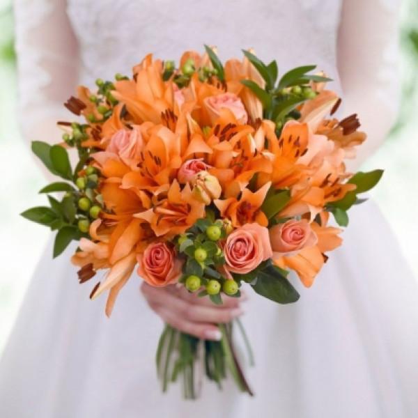 Букет невесты Оранжевый