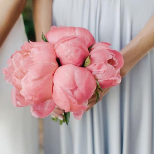 Букет невесты из 7 розовых пионов
